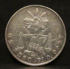 Mexico 1871 Pi O 1 Peso XF