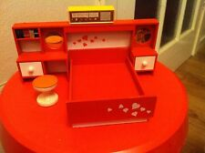 Lundby Bedroom Vintage Dolls' Miniatures & Houses