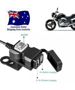 Motorcycle USB Phone Charger  Weatherproof Handlebar Or Other Mount Aus Stock