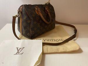 Bag borsa louis vuitton speedy Bandoulier 25 LV Heritage Monogram Originale