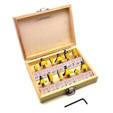 12pc carbure de tungstène Astuce Routeur Bit Set 1/4 pouces pouces Shank cutter Laminé T