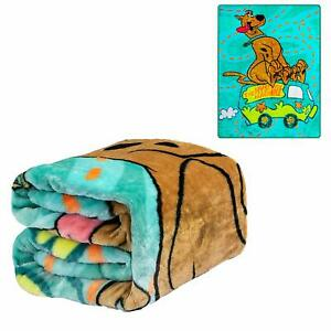 Licensed Scooby Doo Where Are You! Mystery Machine Twin Size Plush Throw Blanket