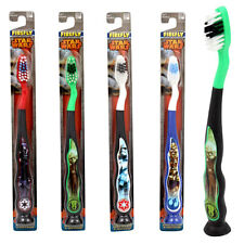 4pk Star Wars Child Soft Toothbrushes Suction Cup Bottom & Tongue Cleaner NIP