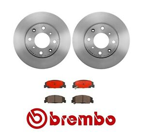 For Honda Civic '90-'00 Front Brake Kit Coated Disc Rotors & Ceramic Pads Brembo