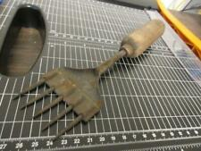 Vintage 5 Prong Ice Pick Chipper Wood Handle Kitchen Tool Farmhouse Decor