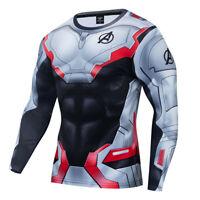 Avengers 4 Endgame Quantum Battle Suit Cosplay Marvel Advanced Costume T-Shirt