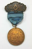 1907 Masonic Dedication Medal - Fire Destroyed Bay City, Michigan Temple