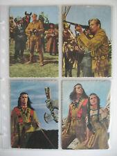 Winnetou, Karl May Postkarten, 16 Stück, 60er Jahre, Kunold?