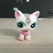 LPS #1699 LITTLEST PET SHOP pink /white walking cat Action Figure 2 INCH