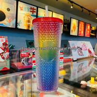 Starbucks China Valentine's 2021 Rainbow Diamond Studded Tumbler CUP [In stock]