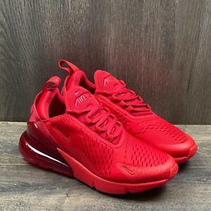 Nike Air Max 270 Mens Sz 6.5 Womens Sz 8 University Red Shoes CV7544 600
