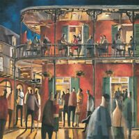 "36W""x36H"" NEW ORLEANS STREETS by DIDIER LOURENCO - MUSIC JAZZ NIGHT LIFE CANVAS"