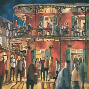 """36W""""x36H"""" NEW ORLEANS STREETS by DIDIER LOURENCO - MUSIC JAZZ NIGHT LIFE CANVAS"""