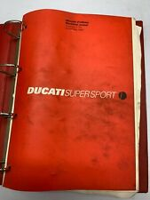 USED GENUINE DUCATI SUPERSPORT SS750 1999 SERVICE WORKSHOP MANUAL 91470221A