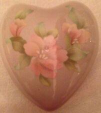 SADLER ENGLAND Heart-Shaped Trinket Box Floral Design with Lid