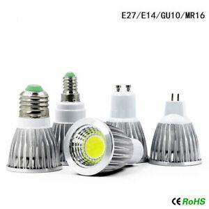 Dimmable E27/MR16/GU10/E14 COB Led Light Bulb Spotlight Lamp Downlight 110V 220V