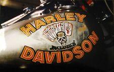 Harley Davidson And The Marlboro Man FXR Tank/Fender Decals Black Death Chopper