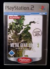 Metal Gear Solid 3-Snake Eater (Sony PlayStation 2, 2006, DVD-box)