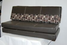 "48"" RV Dinette Cushion Set Table Bench Camper Trailer Monochrome Sahara Seal"