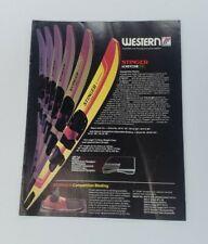 Vintage Western Water Ski Brochure  - Stinger - Glass Cat - 360 - Fuqua Sports