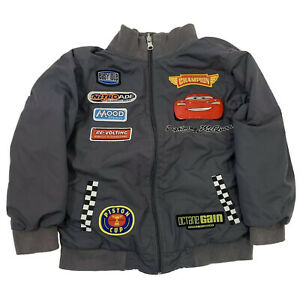 Size 5/6 Disney Store Cars Lightning McQueen Racing Jacket Patches Gray