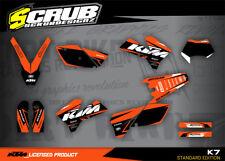 KTM EXC Grafik Dekor-Set 125 250 300 450 525 2005-2007 '05 - '07 SCRUB