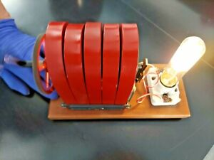 AWESOME WORKING Vintage Antique 5 Bar Hand Crank Telephone Magneto Generator 48A