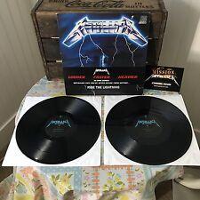 Metallica Ride The Lightning double LP RARE 2008 45 RPM HALF SPEED 180 GRAM