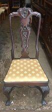 Rare Vintage High Back Shell Pattern Mahogany Chair