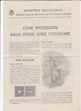 1943 PROTEZIONE ANTIAEREA COME PROTEGGERSI DALLE OFFESE AEREE INCENDIARIE 18-69