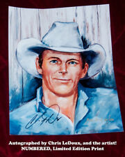 Chris LeDoux Limited Edition Print, signed by the artist and by Chris LeDoux!  A