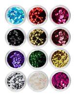 12 Color Nail Art Glitter Sparkle Sequins Holographic Metallic Flakes Nail Decor