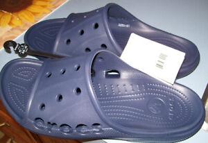 Crocs Baya Slide Sandals Shoes Navy Blue Size 9 Men`s -  Women`s 11 NEW!