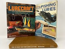 TAS AUCTION 2020: 3 BOOKS , HOW TO MAKE YOUR OWN LURES AND FLIES, LURECRAFT