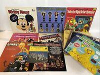 Huge Lot of 25 Vintage Disney Children's Record LP Vinyl Sesame St Story Books