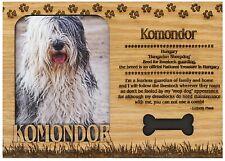 Komondor Engraved Wood Picture Frame Magnet