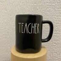 Rae Dunn By Magenta Artisan Collection TEACHER Matte Black Coffee Mug Brand NEW
