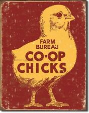 Farm Bureau Chick CO-OP Chicken Vintage Retro Kitchen Wall Decor Metal Sign