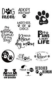 Dog mom rescue decal sticker car bumper vinyl paw mum