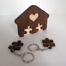 "Keyholder ""Sweet Home"" for two puzzle-pendants"