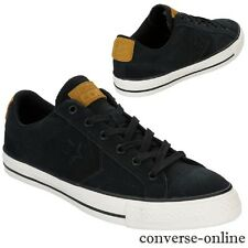 Men CONVERSE All Star STAR PLAYER CONS OX BLACK SUEDE Trainers Shoe UK SIZE 11.5