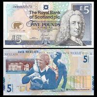 Scotland Royal Bank 5 pounds, 2005, P-365, COMM. UNC