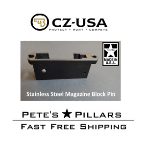 CZ 455 457 512 High Quality STAINLESS Magazine Well Housing Block Pin #13