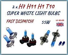 FITS FORD FIESTA FOCUS 2 x H7 H1 H11 501 SUPER WHITE CAR LIGHT BULBS HEADLIGHT