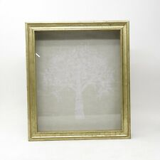 RH Restoration Hardware Baby Antiqued Gold Gilt Wood Shadow Box Family Tree