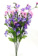 """COSMOS Flower Bush. Purple, Pink, Lavender Blooms. Artificial.  24"""" Tall."""