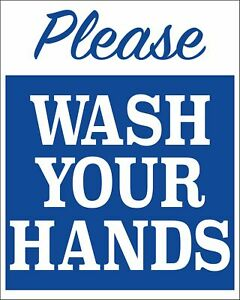 Please Wash Your Hands - Plastic Sign, 2 pack