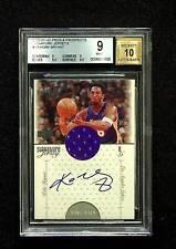 2000-01 UD PROS & PROSPECTS Signature Jerseys Kobe Bryant auto BGS 9