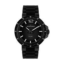 Runde Jacques Lemans Armbanduhren mit Silikon -/Gummi-Armband