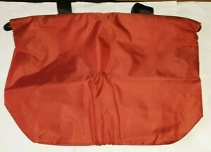 "TOPDESIGN GYM TOTE DUFFLE BAG RED 20.7""x7.1""x14"" INTERIOR & BOTTLE POCKET uns"